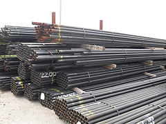 Steel pipe for gates, new reject pipe, secondary steel pipe, black pipe, Steel pipe in Nebraska, Steel Pipe in Iowa, steel pipe for mudjacking