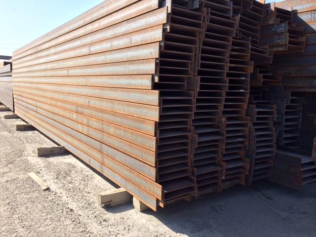 Wide flange beams; I beams, S beams, H pile, new and used steel beams,