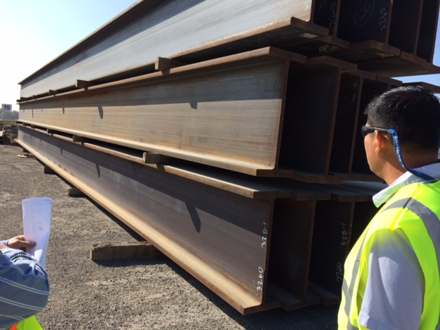 Wide flange beams in California
