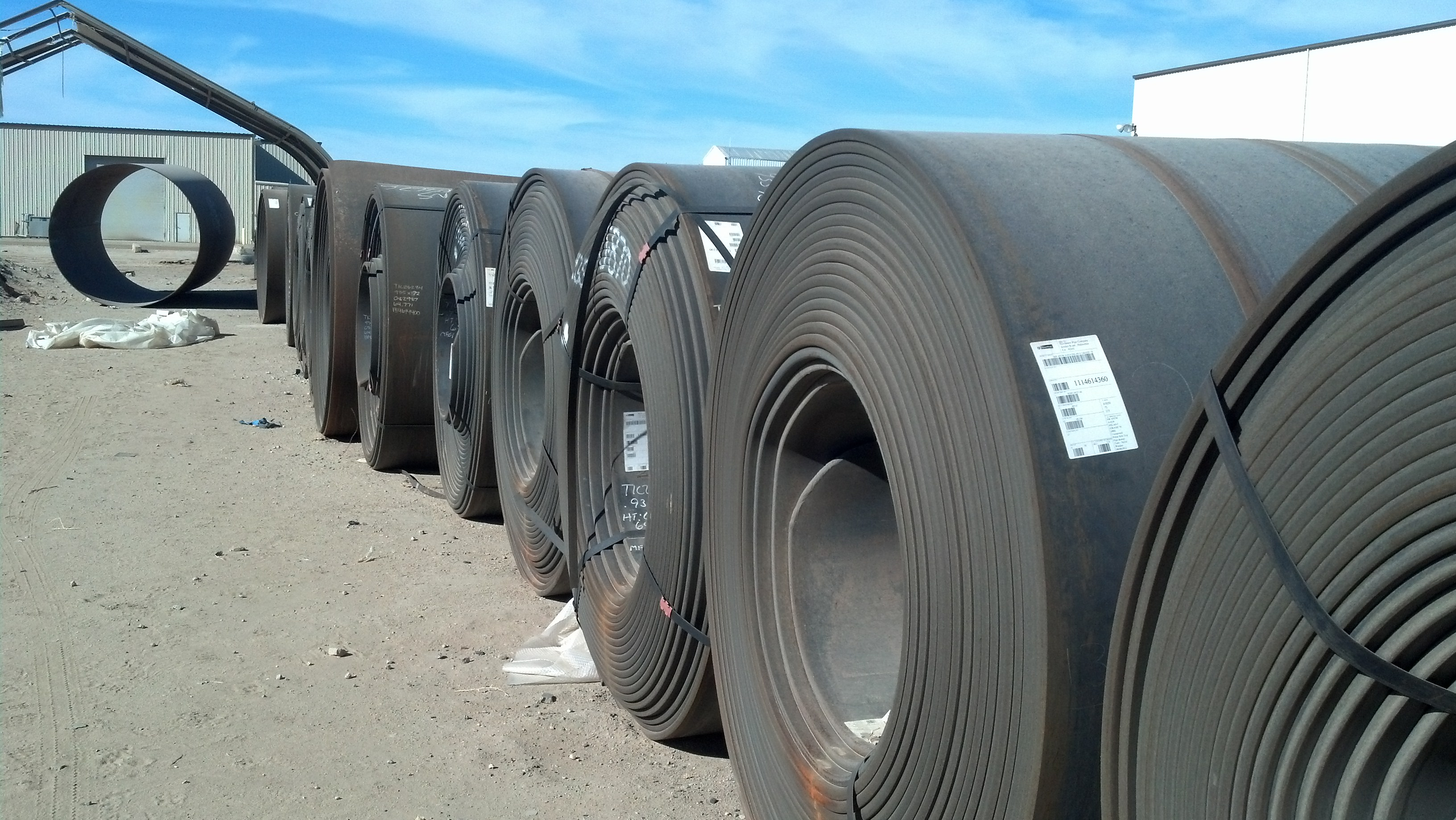 Steel coils, slit coils, side cuts, master coils, new surplus steel coils,